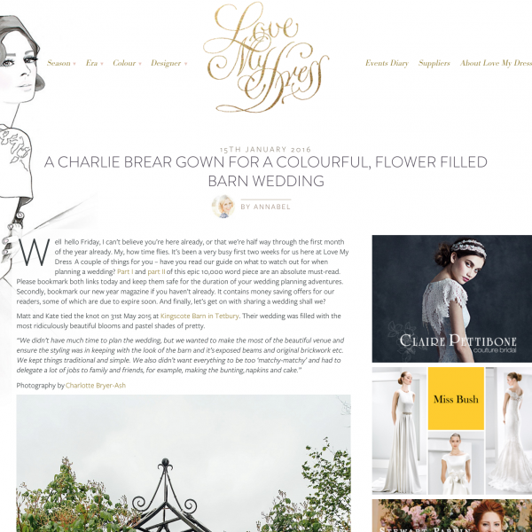 Featured on Love My Dress | Matt and Kate