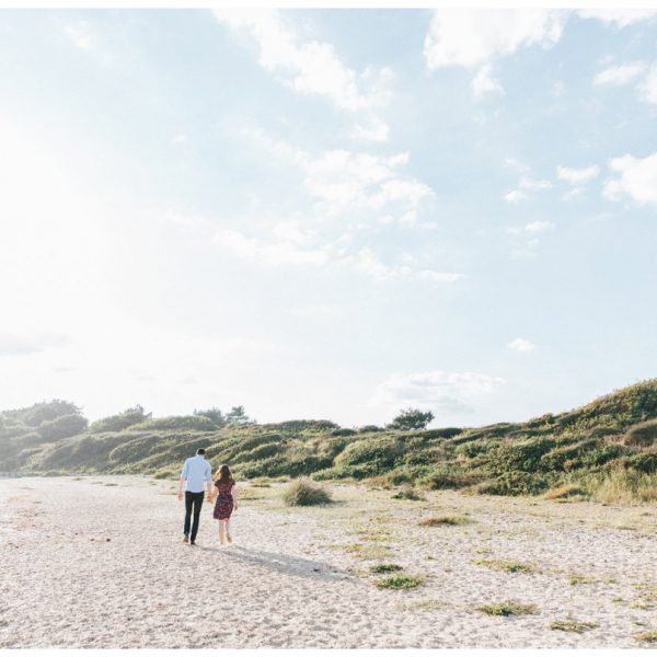 Lepe Beach Sunset Beach Engagement Shoot | Charlotte and Rhys