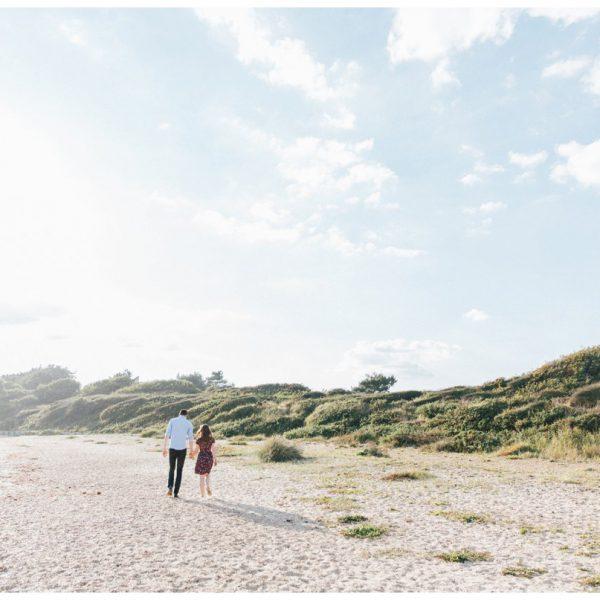 Lepe Beach Sunset Beach Engagement Shoot   Charlotte and Rhys