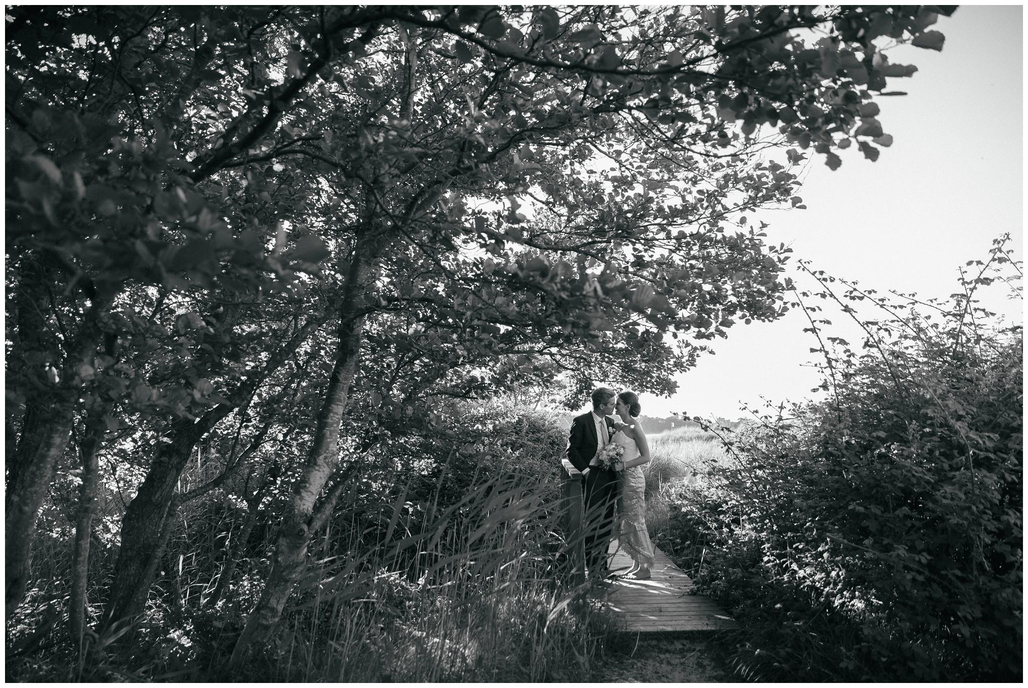 Black and White Beach Wedding Photography