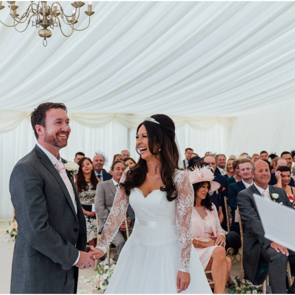 A Luxury Backgarden Marquee Wedding Celebration | Jade and Andy