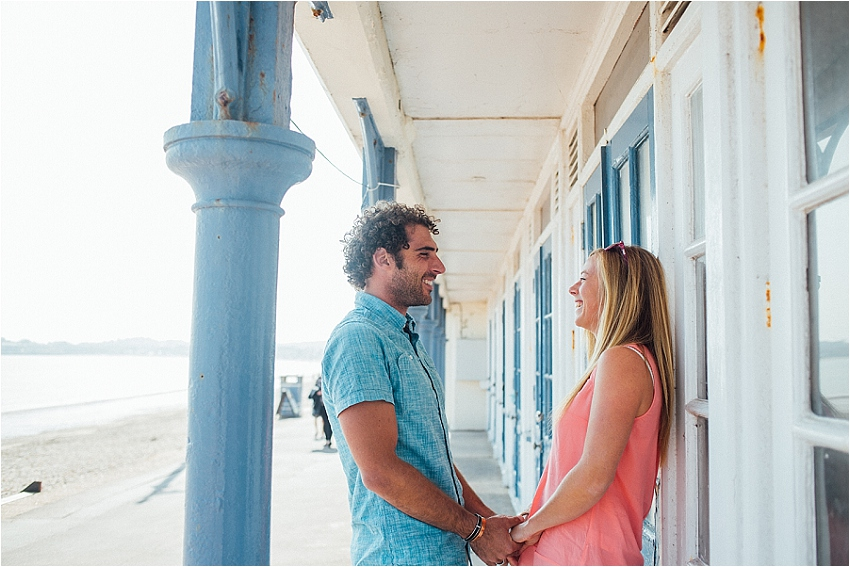 relaxed beach engagement shoot