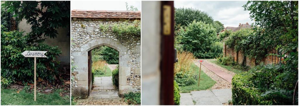 Garden Wedding Entrance