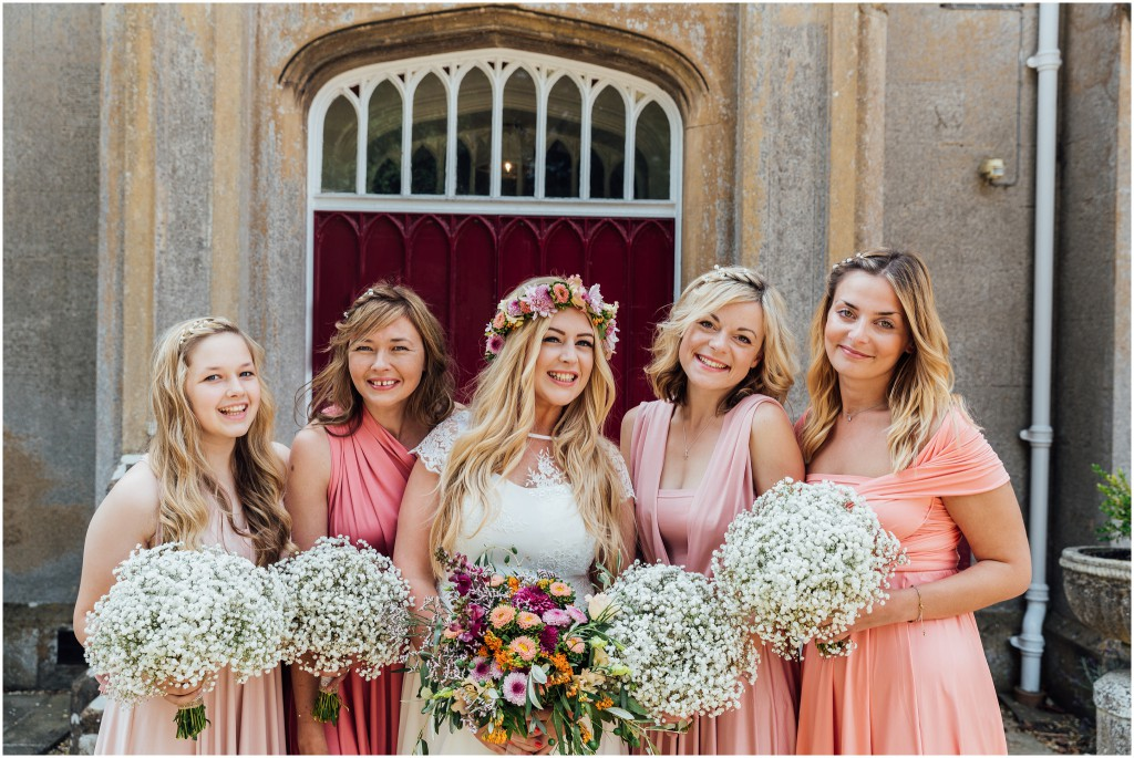 Pretty in Pink Bridesmaids