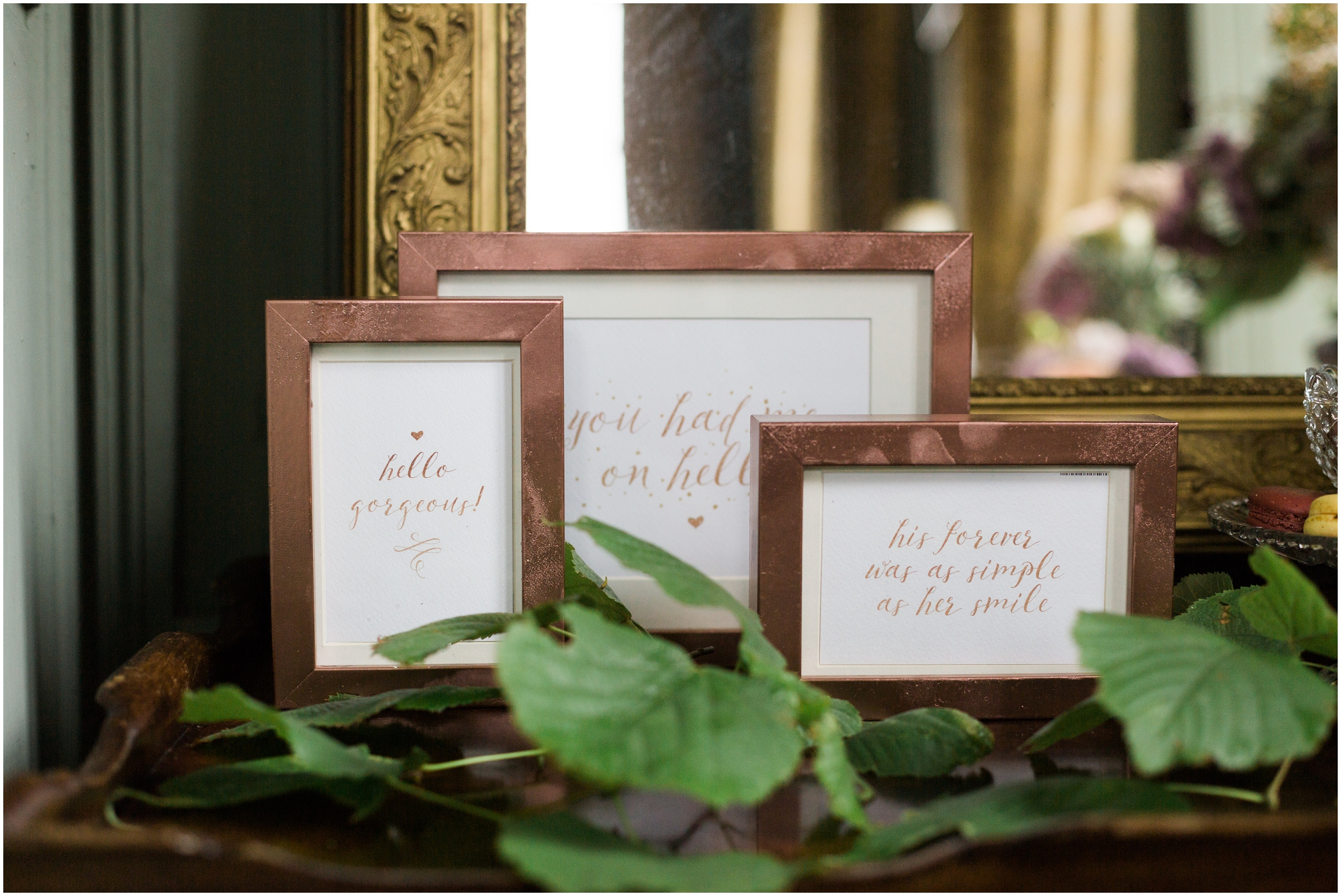 Copper Frames with love quotes