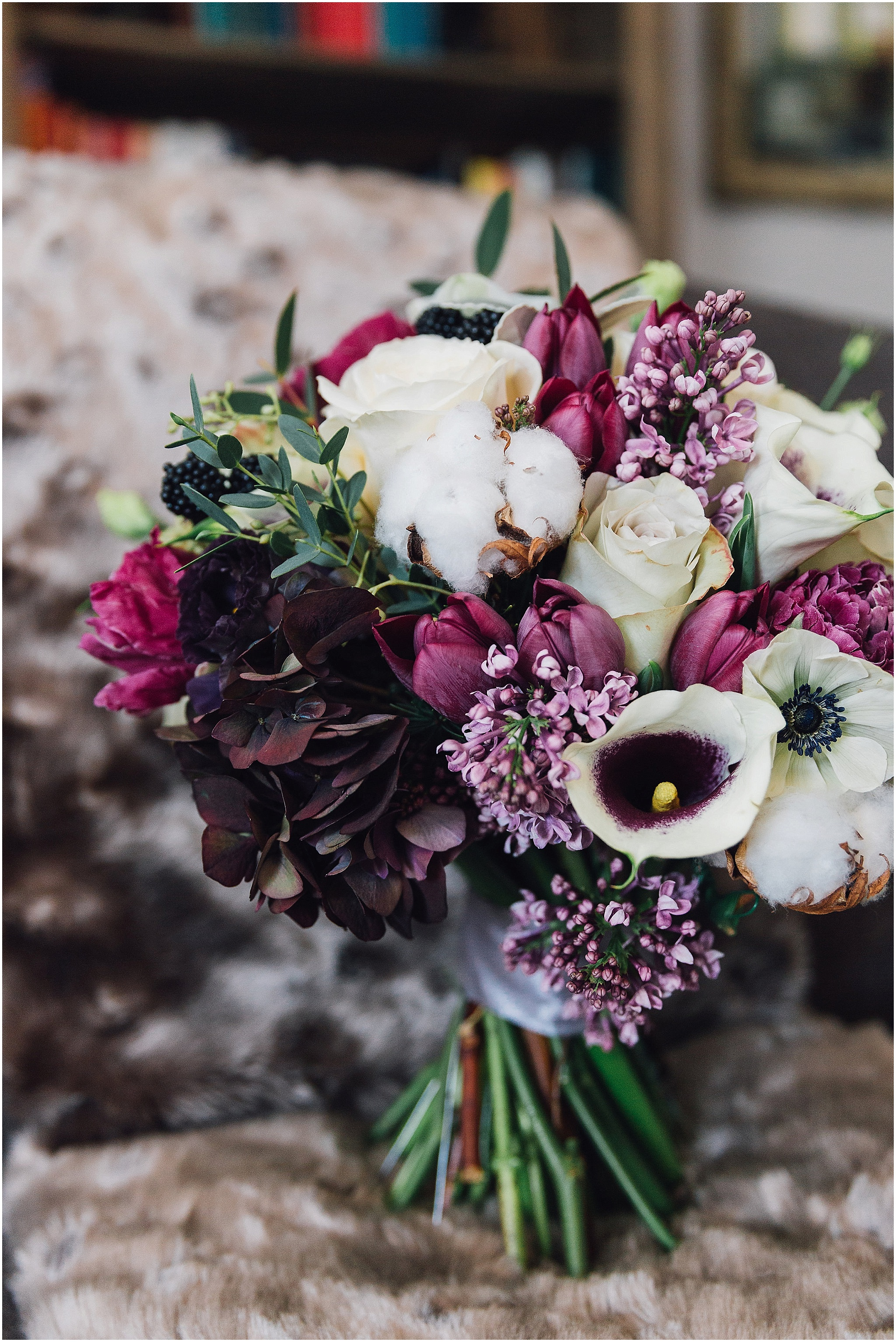 White and Pink Autumn Bouquet