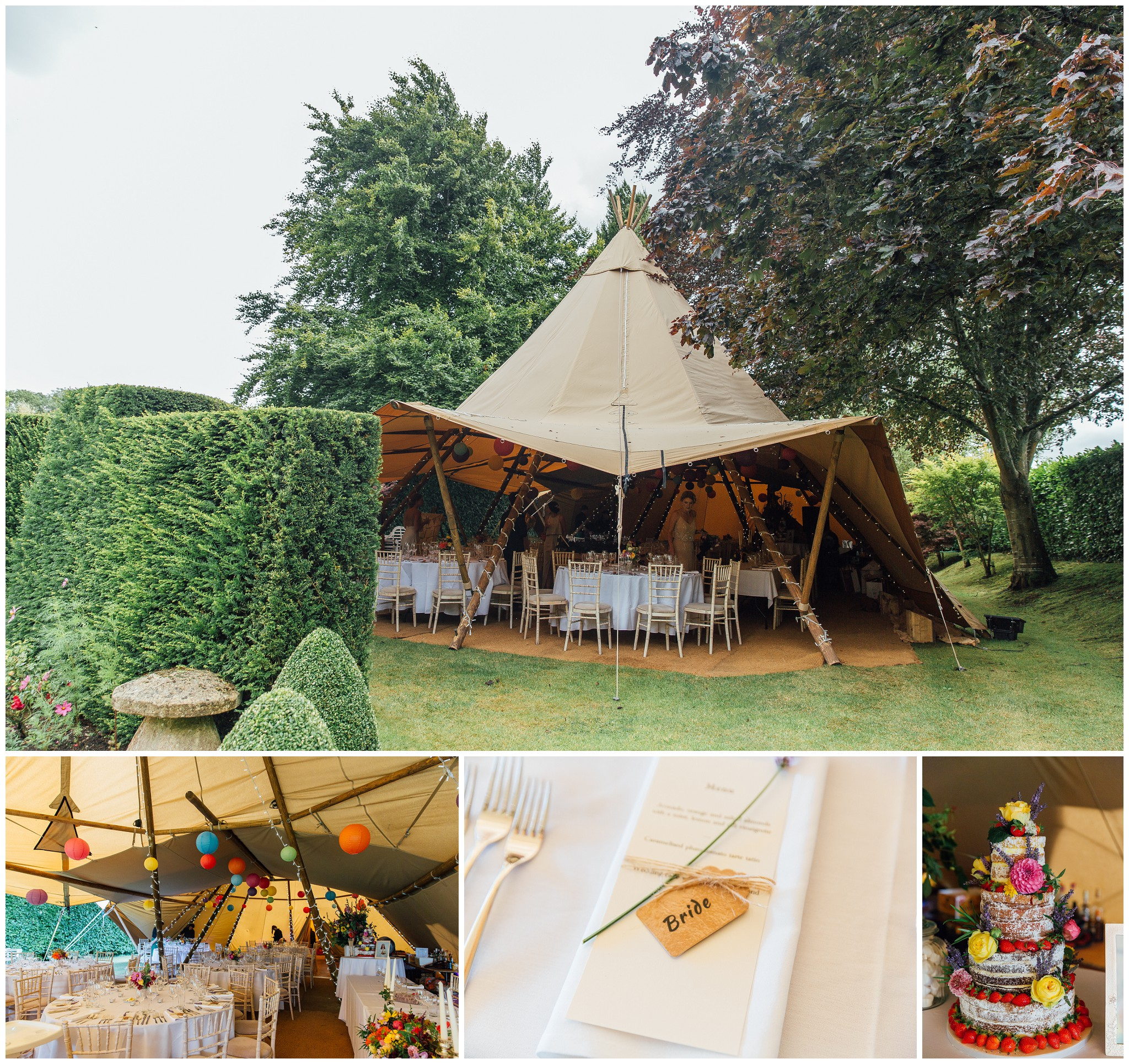tipi wedding dorset