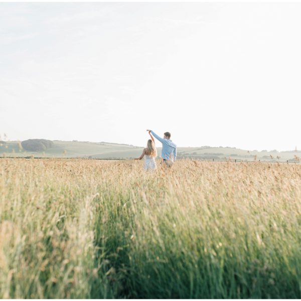 Beach Engagement Shoot | Seven Sisters Cliff