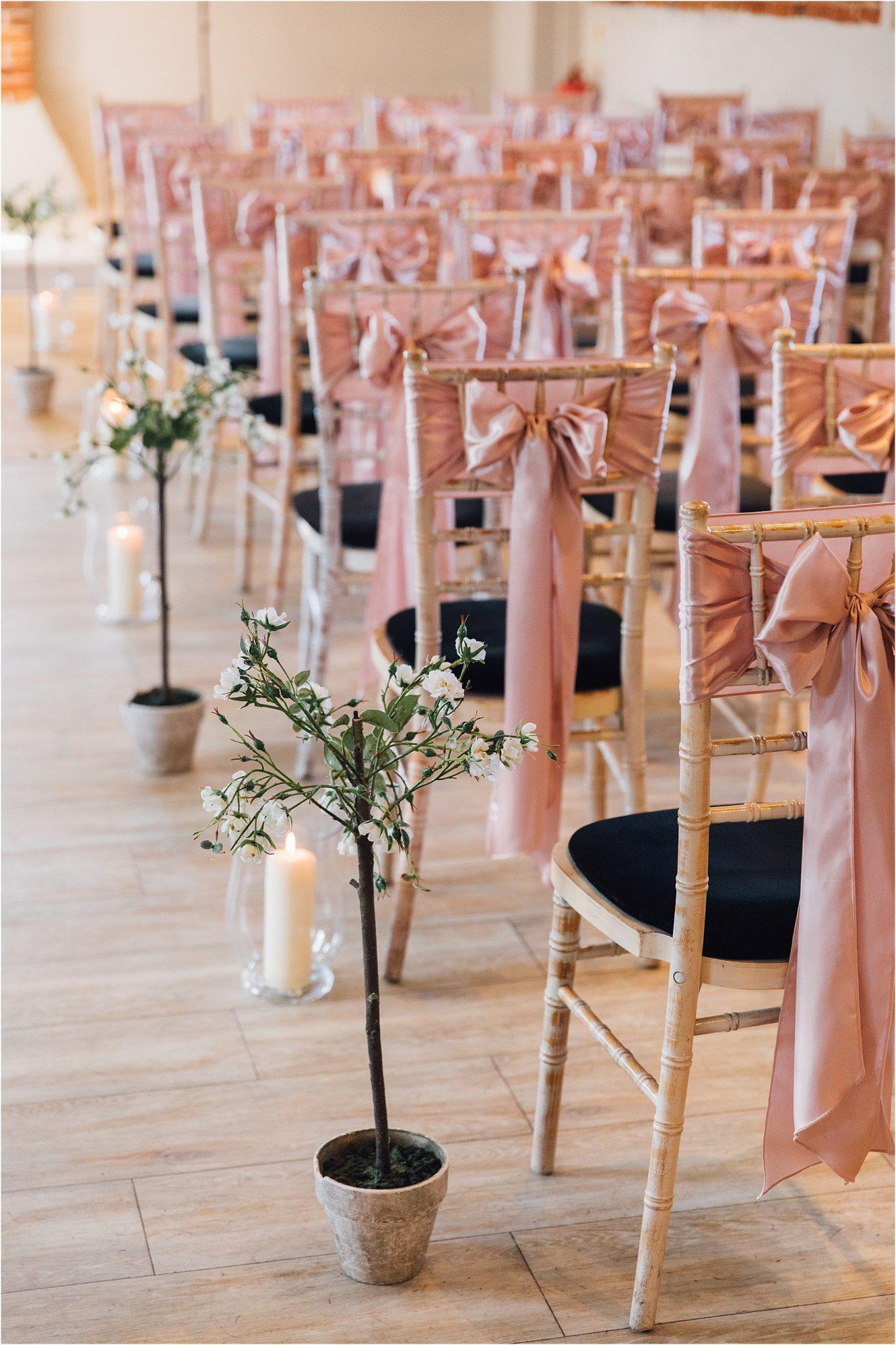 Pink Wedding Details Ceremony Dorset Wedding