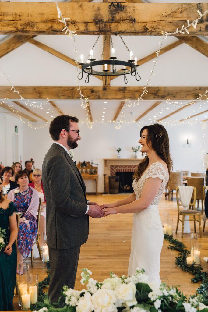 Bride and Groom Burley Manor Wedding